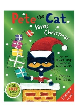 Hardcover book Pete The Cat Saves Christmas