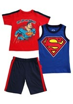 Boy's Superman Up Up And Away 3 Piece Set