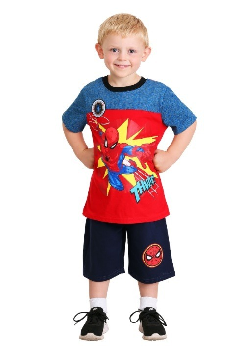 Boy's Spider-Man Thwip Shirt and Short Set