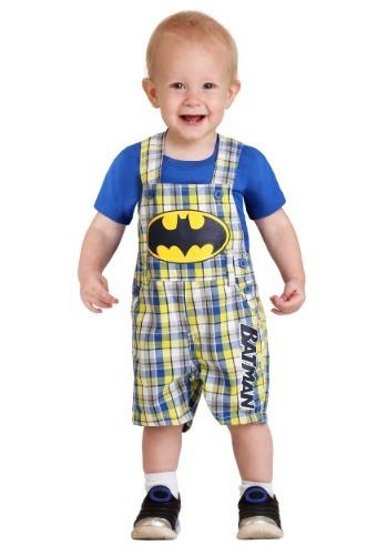 Infant Boy's Batman Plaid Shortall Set