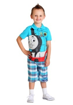 Toddler Thomas the Tank Engine Polo and Plaid Short Set