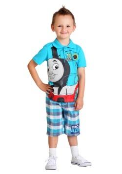 Toddler Thomas the Tank Engine Polo and Plaid Short Set