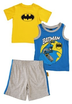 Toddler Boys 3PC Batman Shirt, Tank and Jersey Short Set