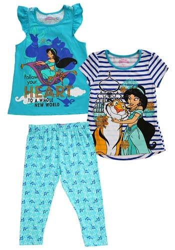 Princess Jasmine 3 Piece Capri Set