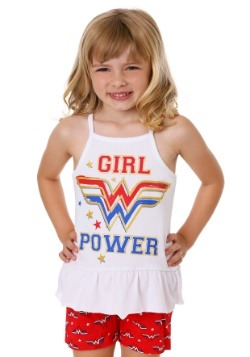 DC Comics Wonder Woman 3 Piece Girl's Rule Short Set Alt 1