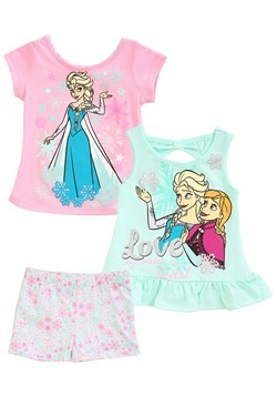 3 Piece Frozen Love Short & Tops Set