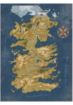 Game of Thrones Cersei Lannister Westeros Map Puzzle