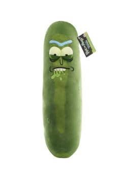 "Galactic Plushies: Rick and Morty- 18"" Pickle Rick (Biting L"