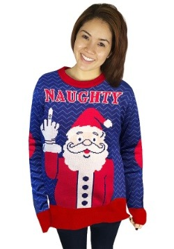 Naughty Santa Ugly Christmas Sweater Adult