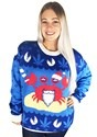 Mistah Sandy Claws Crab Ugly Christmas Sweater