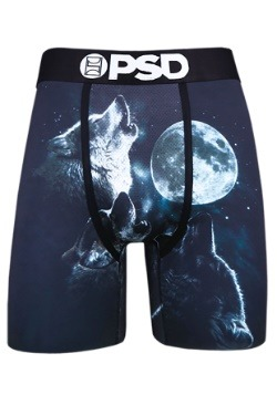 PSD Underwear- Wolf Moon Men's Boxer Briefs