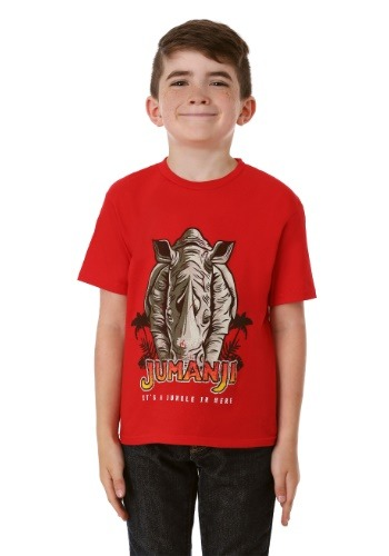 Jumanji It's a Jungle in Here Boy's Red T-Shirt