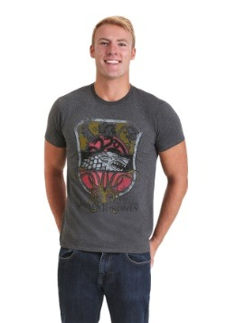 Game of Thrones All Houses Sigil Men's Gray T-Shirt
