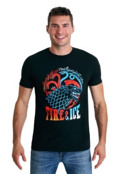 Game of Thrones: Fire & Ice Men's Black T-Shirt