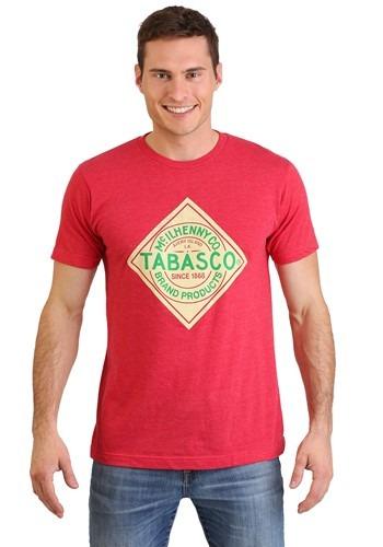 Tabasco Hot Sauce Logo Mens Red T-Shirt