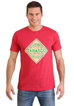 Tabasco Hot Sauce Logo Mens Red T-Shirt