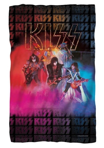KISS Stage Lights Lightweight Fleece Blanket