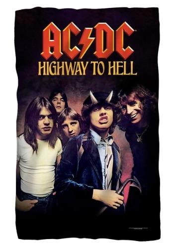 AC/DC Highway to Hell Lightweight Fleece Blanket