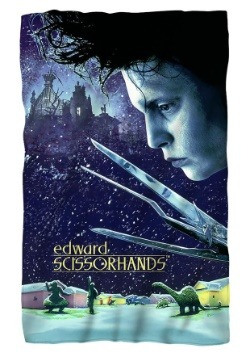 Lightweight Edward Scissorhands Fleece Blanket