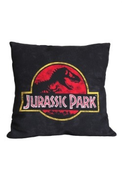 "Jurassic Park Logo 14"" x 14"" Throw Pillow"
