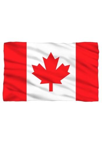Canadian Flag Lightweight Fleece Blanket