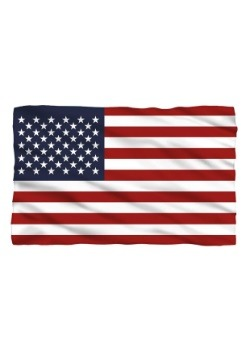 American Flag Lightweight Fleece Blanket