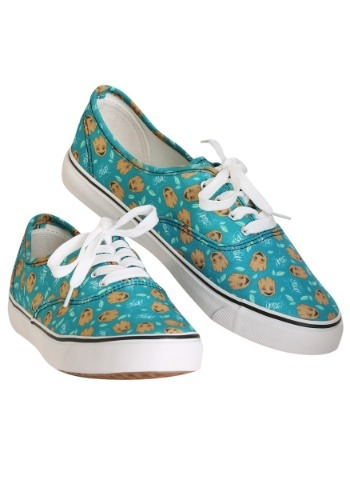 Marvel I am Groot Teal Womens Canvas Shoes