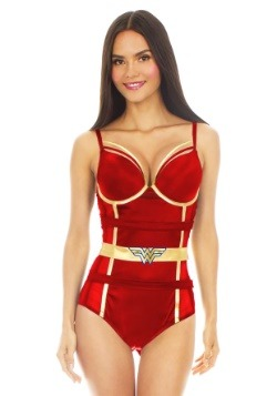 Wonder Woman Satin and Mesh Bodysuit