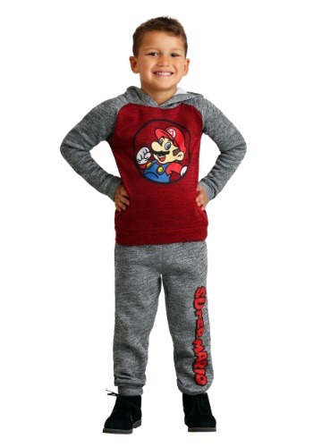 Boys Super Mario Hoodie Sweatshirt and Pants Set