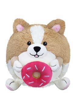 "Squishable Corgi Holding a Donut 7"" Plush"