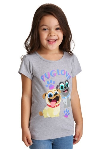 Girls Toddler Puppy Dog Pals Pug Love T-Shirt
