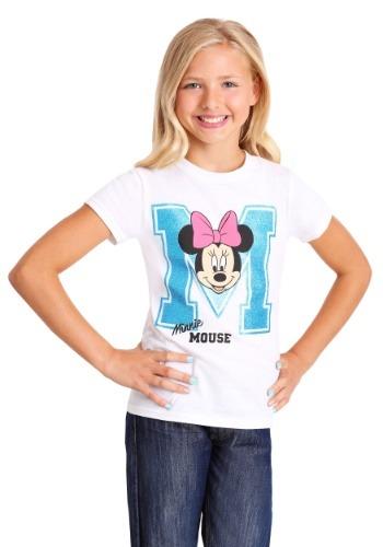 Girl's Minnie Mouse Varsity T-Shirt