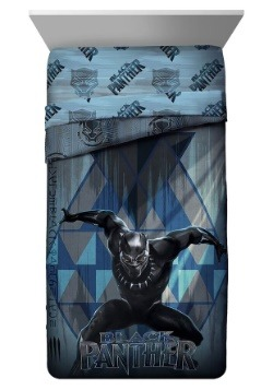 Black Panther Blue Tribe Twin Comforter