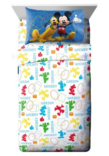 Mickey Mouse Club House Twin Sheet Set