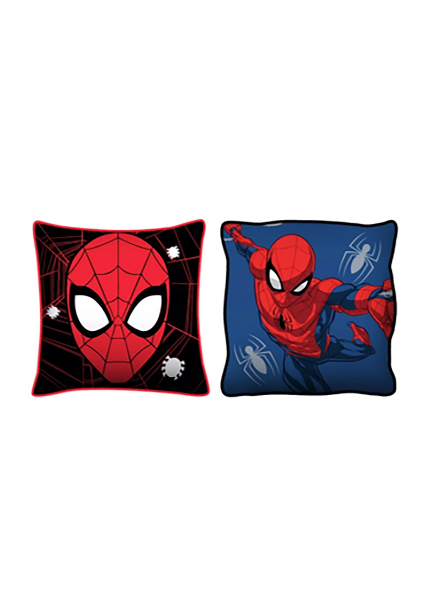 spider man 2 pack squishy decorative pillows. Black Bedroom Furniture Sets. Home Design Ideas