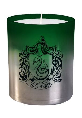 Harry Potter Slytherin Glass Candle
