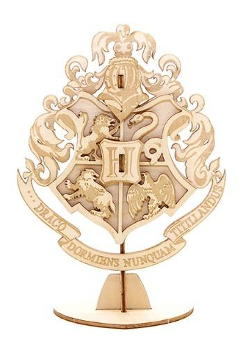 Harry Potter Hogwarts Crest 3D Wood Model & Book