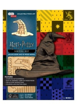 Harry Potter Sorting Hat 3D Wood Model & Book