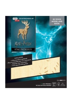 Harry Potter Stag Patronus 3D Wood Model & Book