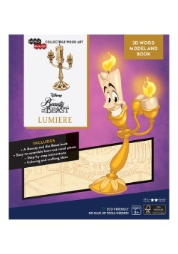 Beauty and the Beast Lumiere 3D Wood Model & Book