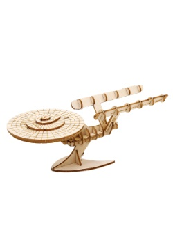 Star Trek U.S.S. Enterprise 3D Wood Model & Book
