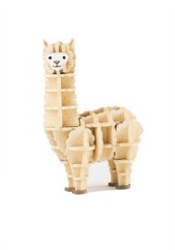 Alpaca 3D Wood Model & Book alt 3