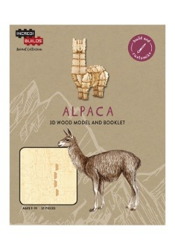 Alpaca 3D Wood Model & Book
