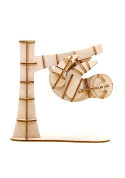 Sloth 3D Wood Model & Book