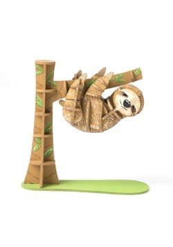 Sloth 3D Wood Model & Book alt 3