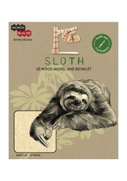 Sloth 3D Wood Model & Book