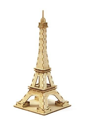 Paris Eiffel Tower 3D Wood Model