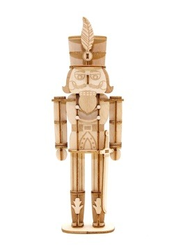 Nutcracker 3D Wood Model with Background Display
