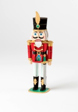 Nutcracker 3D Wood Model with Background Display alt 3