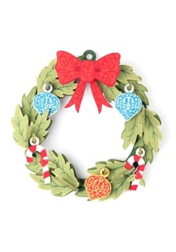 Christmas Wreath 3D Wood Model with Background Display alt 3